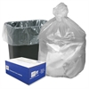 "Webster High Density Commercial Can Liners - Small Size - 10 gal - 24"" Width x 24"" Length x 0.31 mil (8 Micron) Thickness - High Density - Natural - Resin - 1000/Carton - Garbage"