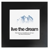 "Aurora Live the Dream Poster - Motivation - 20"" Width x 20"" Height - Black"