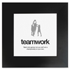 "Teamwork Poster - Motivation - 20"" Width x 20"" Height - Black"