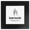 """Teamwork Poster - Motivation - 20"""" Width x 20"""" Height - Black"""
