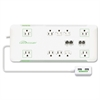 Slim 10-Outlet Surge Block Protector - 10 x AC Power - 1.80 kVA - 3420 J - 120 V AC Input
