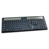 "Compucessory Wireless Solar Keyboard, 16-1/8""x6""x7/8"", Black - Wireless Connectivity - RF - Compatible with PC - Black"