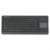 "Touchpad Wireless Keyboard, 2.4G, 4-3/8""x11""x7/8"", BK - Wireless Connectivity - RF - 78 KeyTouchPad - Compatible with Computer (PC) - Multimedia Hot Key(s) - Black"