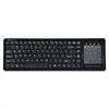 "Compucessory Touchpad Wireless Keyboard, 2.4G, 5-1/8""X16-1/8""X1"", BK - Wireless Connectivity - RF - 78 KeyTouchPad - Compatible with Computer (PC) - Multimedia Hot Key(s) - Black"
