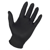 Genuine Joe Titan Nitrile Powder Free Indust Gloves - Large Size - Nitrile - Black - Disposable, Puncture Resistant, Textured, Powder-free - For Multipurpose - 3 / Pack