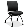 "Perpetual Nesting Flex-back Armless Chair - Fabric Black Seat - Fabric Black Back - Steel Black Frame - Four-legged Base - 26"" Width x 26"" Depth x 36"" Height"