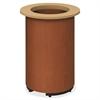 """HON Preside Laminate Cylinder Table Base - Cylindrical Base - 28.38"""" Height - Henna Cherry, Laminated - Plywood"""