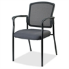 "Breathable Mesh Guest Chair - Fabric Gray Seat - Steel Black Frame - Gray - 23"" Width x 9"" Depth x 32"" Height"