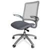 "Lorell Vortex Self-Adjusting Weight-Activated Task Chair - Fabric Gray Seat - Nylon Back - 5-star Base - Gray - 19.30"" Seat Width x 18.50"" Seat Depth - 24.4"" Width x 22.4"" Depth x 41"" Height"