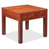 "Occasional Corner Table - Square Top - Square Leg Base - 24"" Table Top Length x 24"" Table Top Width x 1"" Table Top Thickness - 20"" Height x 23.88"" Width x 23.88"" Depth - Assembly Required - Che"
