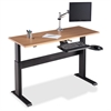 "Lorell Height-adjustable Workstation Tabletop - Latte - 60"" Table Top Width x 24"" Table Top Depth x 1"" Table Top Thickness - Assembly Required"