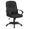 "Lorell Executive Fabric Mid-Back Chair - Fabric Black Seat - Fabric Black Back - Black Frame - 5-star Base - 20.50"" Seat Width x 20"" Seat Depth - 26.3"" Width x 27.5"" Depth x 38.5"" Height"