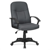 "Lorell Executive Fabric Mid-Back Chair - Fabric Gray Seat - Fabric Gray Back - Black Frame - 5-star Base - 20.50"" Seat Width x 20"" Seat Depth - 26.3"" Width x 27.5"" Depth x 38.5"" Height"