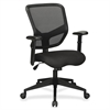 "Lorell Executive Mesh Mid-Back Chair - Fabric Black Seat - Black Back - 5-star Base - 28"" Width x 25.8"" Depth x 28.5"" Height"