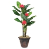 "Glolite Nu-dell 7ft. Flowering Banana Tree - 84"" Tall - Banana - Green - 1 Each"