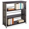 "Scoot Contemporary Design Bookcase - 36"" x 15.5"" x 36"" - 3 Shelve(s) - Material: Steel, Particleboard - Finish: Black, Laminate, Powder Coated"