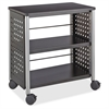 "Safco Scoot Personal Contemporary Design Bookcase - 25"" x 15.5"" x 27"" - 2 Shelve(s) - Material: Steel, Particleboard - Finish: Black, Laminate, Powder Coated"