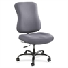 "Safco Optimus Big and Tall Chair - Gray Seat - Gray Back - 5-star Base - 23"" Seat Width x 22"" Seat Depth - 25"" Width x 25"" Depth x 42.5"" Height"