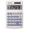 "Sharp EL240SAB Handheld Calculator - Protective Hard Shell Cover, Auto Power Off - 8 Digits - LCD - Battery/Solar Powered - 0.7"" x 2.8"" x 4.6"" - White, Blue - 1 Each"