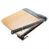 "TrimAir Wood Guillotine Paper Trimmer - Cuts 30Sheet - 18"" Cutting Length - 3.5"" Height x 14.3"" Width x 26.6"" Depth - Wood Base, Titanium Blade - Transparent, Walnut"