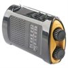 Acme United Portable AM/FMTV Crank Radio - AA - Yellow, Black