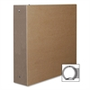 "Aurora Bare Essentials Binder - 2"" Binder Capacity - 3 x Round Ring Fastener(s) - Chipboard - Brown Kraft - Recycled - 1 Each"