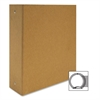 "Aurora Bare Essentials Binder - 3"" Binder Capacity - 3 x Round Ring Fastener(s) - Chipboard - Brown Kraft - Recycled - 1 Each"