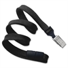 "Safety Breakaway Lanyard - 36"" Length - Black - Nylon, Steel"
