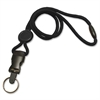 "Detachable Breakaway Lanyards - 36"" Length - Black - Nylon, Plastic, Metal"