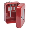EK0506 Steel Emergency Key Safe - Key Lock - for Key - Red - Plastic, Steel