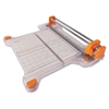 "Fiskars ProCision Rotary Bypass Trimmer - Cuts 15Sheet - 12.50"" Cutting Length - 9.3"" Height x 19"" Width x 5"" Depth - Plastic Base - White, Titanium, Orange"