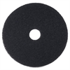 "3M Niagara 7200 Floor Stripping Pads - 16"" Diameter - 5/Box - Black"