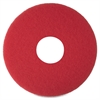 "3M Niagara 5100N Floor Buffing Pads - 12"" Diameter - 5/Box - Red"