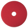 "3M Niagara 5100N Floor Buffing Pads - 20"" Diameter - 5/Box - Red"