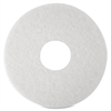 "3M Niagara 4100N Floor Polishing Pads - 12"" Diameter - 5/Box - White"