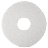 "3M Niagara 4100N Floor Polishing Pads - 16"" Diameter - 5/Box x 16"" Diameter - White"