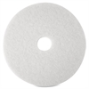 "3M Niagara 4100N Floor Polishing Pads - 20"" Diameter - 5/Box - White"