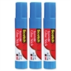 Scotch Restickable Glue Stick - 0.260 oz - 3 / Pack - White, Red