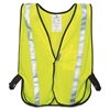 3M Reflective Yellow Safety Vest - Visibility Protection - Polyester - Yellow, Silver - 1 Each