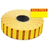 "Monarch Sale Price Labels - Permanent Adhesive - ""Sale"", ""Price"" - 0.78"" Width x 0.44"" Length - 3 / Roll - Rectangle - Bright Yellow - 1 / Pack"