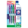 Bottle to Pen (B2P) Retractable Gel Pens - Fine Point Type - Refillable - Assorted Gel-based Ink - 4 / Pack