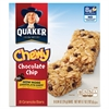 Quaker Oats Foods Chocolate Chip Chewy Granola Bar - Individually Wrapped - Chocolate Chip - 6.70 oz - 8 / Box