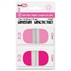 "Redi-Tag Pink Breast Cancer Awareness Round Pop-up Index Tabs - 26 Write-on Tab(s) - 1.50"" Tab Height x 1"" Tab Width - Removable - Assorted, Pink Tab(s) - 44 / Pack"