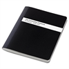 "TOPS Poly Cover Composition Book - 100 Sheets - Printed - Sewn 7.50"" x 9.75"" - White Paper - Black Cover - Poly Cover - 1Each"