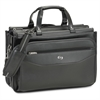 """Carrying Case (Briefcase) for 16"""" Notebook, Business Card, Accessories, Pen, File Folder - Black - Shoulder Strap, Handle - 12"""" Height x 17"""" Width x 8"""" Depth"""