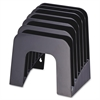 "OIC Hvy-duty Recycled Jumbo Incline Sorter - 6 Compartment(s) - 7.4"" Height x 9.4"" Width x 10.5"" Depth - Desktop, Counter, Wall Mountable - Recycled - Black - Plastic - 1Each"