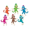 "Sock Monkey Solids Classic Accents, 36 Pieces, Multi - 36 Monkey - Durable, Reusable - 6"" Height - Teal, Magenta, Green, Blue, Orange, Brown - 36 / Set"