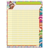 "Trend Sock Monkeys Collection Large Incentive Chart - 22"" x 17"" Sheet Size - 1 Each"