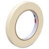 "3M 200 Paper Tape - 0.47"" Width x 60 yd Length - 3"" Core - Rubber Backing - Easy Tear, Pressure Sensitive, Easy Unwind - 72 / Carton - Tan"