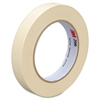 "3M Utility Paper Tape - 0.71"" Width x 60 yd Length - 3"" Core - Crepe Paper Backing - Easy Tear, Pressure Sensitive - 48 Roll - Tan"